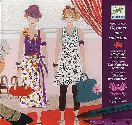 Amazon Com Djeco Fashion Workshop Designing A Collection Varios Toys Games