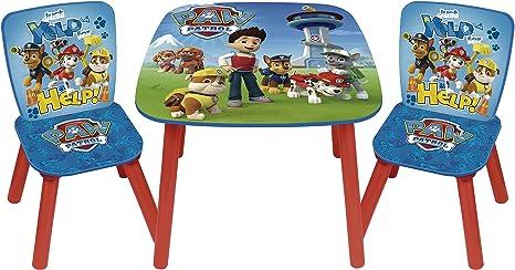 Arditex PW9497 - Set de mesa y 2 sillas, diseño Paw Patrol La ...