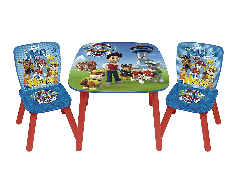 Arditex PW9497 - Set de mesa y 2 sillas, diseño Paw Patrol La Patrulla Canina
