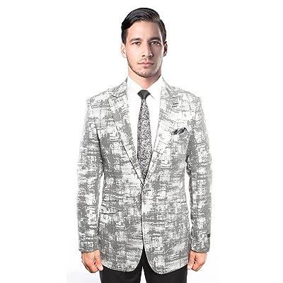 Mens Suit Jacket Blazers Luxurious One Button Pattern Blazer Sport Jacket