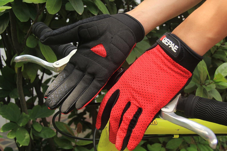 Lerway Anti-saut Gants Respirant Cyclisme Bike Bicycle Sports de Plein Air Complet Finger Rembourrage Soft Hand Glove