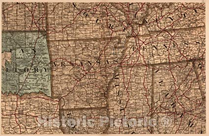 Amazon.com: Historic Map | (Map 6 - Indian Territory ...