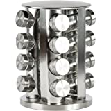 Rotating Spice Rack with 16 Spice Jars - Durable and Stylish Revolving Seasoning Storage and Organizer with Sturdy Bottles and Stable Base Stand, Perfect for your Kitchen Countertop and Dining Table