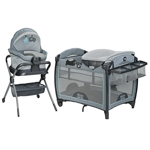 Amazon.com : Graco Pack n Play Day2Dream Playard & Bedside Sleeper, Layne : Baby