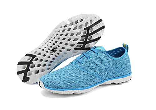736c57a91ddb welltree Unisex Women s   Men s Quick Drying Breathable Mesh Aqua Water  Shoes 8 US Men
