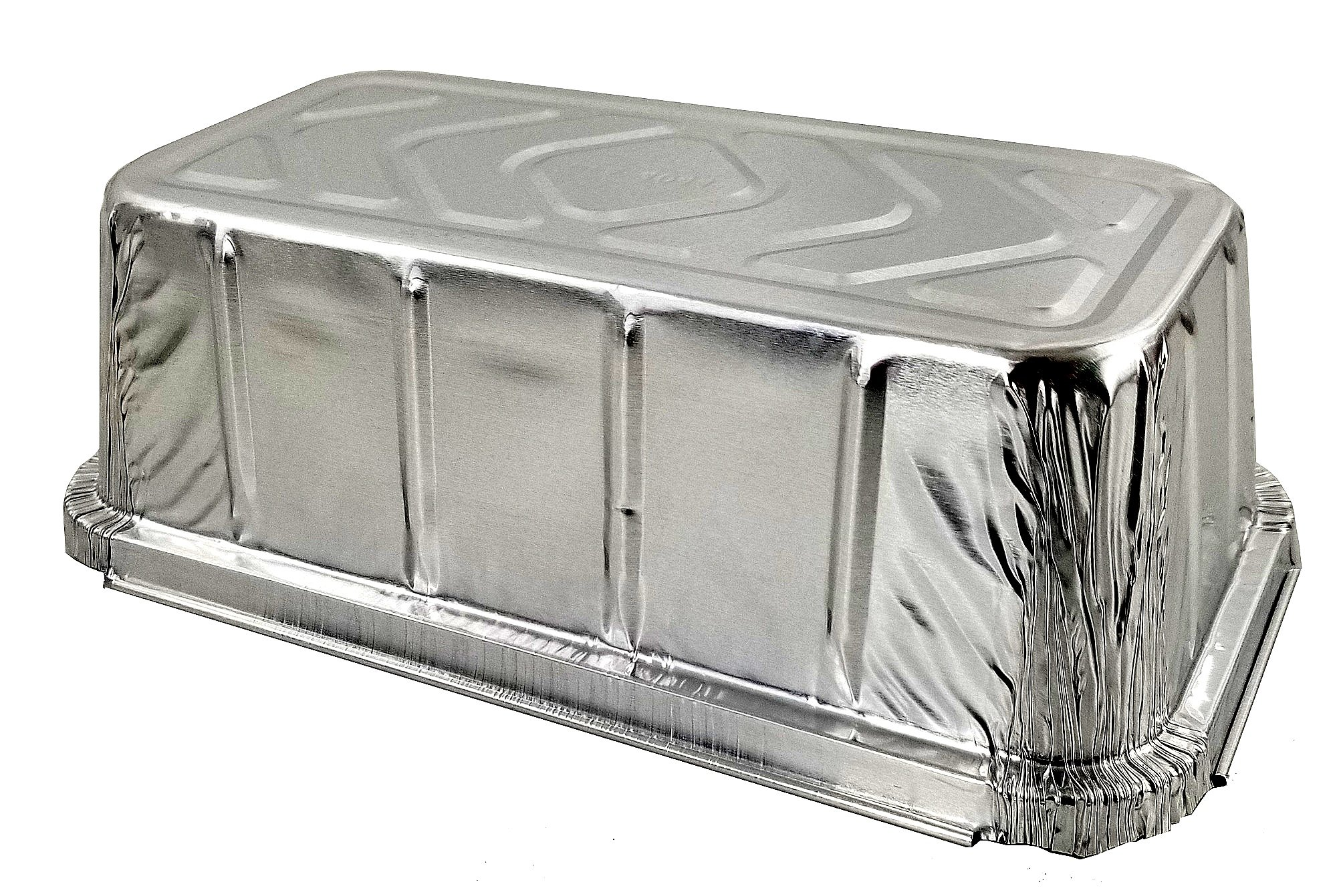 Pactogo 1 1/2 lb. IVC Disposable Aluminum Foil Loaf Bread Pan w/Board Lid (8'' x 4.1'' x 2.2'') - Heavy Duty Made in USA (Pack of 50 Sets) by PACTOGO (Image #4)