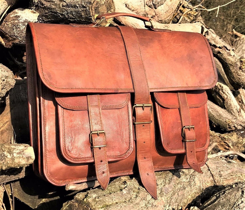 Sac à bandoulière en cuir Homme Urbankrafted en cuir 16 pouces Crossbody Business Briefcase Shoulder Bag