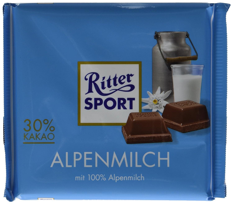 Amazon.com : Ritter Sport, Alpine Milk Chocolate, 3.5-Ounce Bars ...