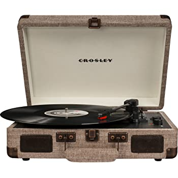 Crosley CR8005D-HA Cruiser Deluxe Portable 3-Speed Turntable with Bluetooth