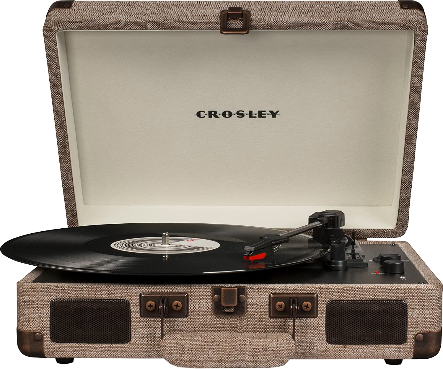 Crosley CR8005D-HA Cruiser Deluxe Portable 3-Speed Turntable
