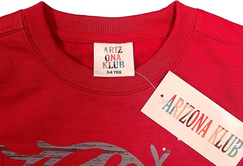 Arizona Klub unisex in misto cotone taglia 3-12 anni Felpa natalizia per bambini per ragazzi e ragazze