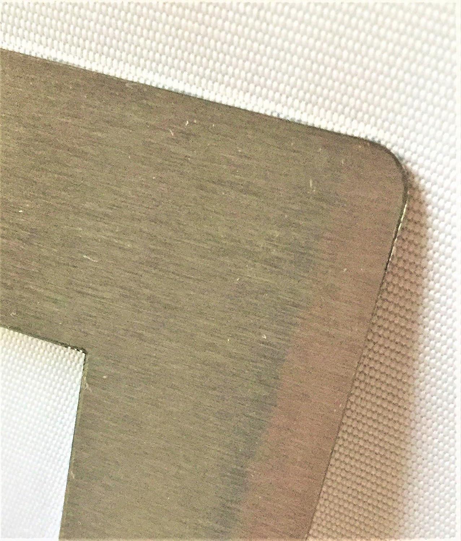 Marco adaptador de acero inoxidable para placas de cocina, 492 x 562 mm: Amazon.es: Grandes electrodomésticos