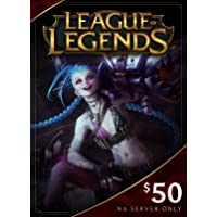 League of Legends $50 Gift Card – 7200 Riot Points - NA Server Only [Online Game Code]
