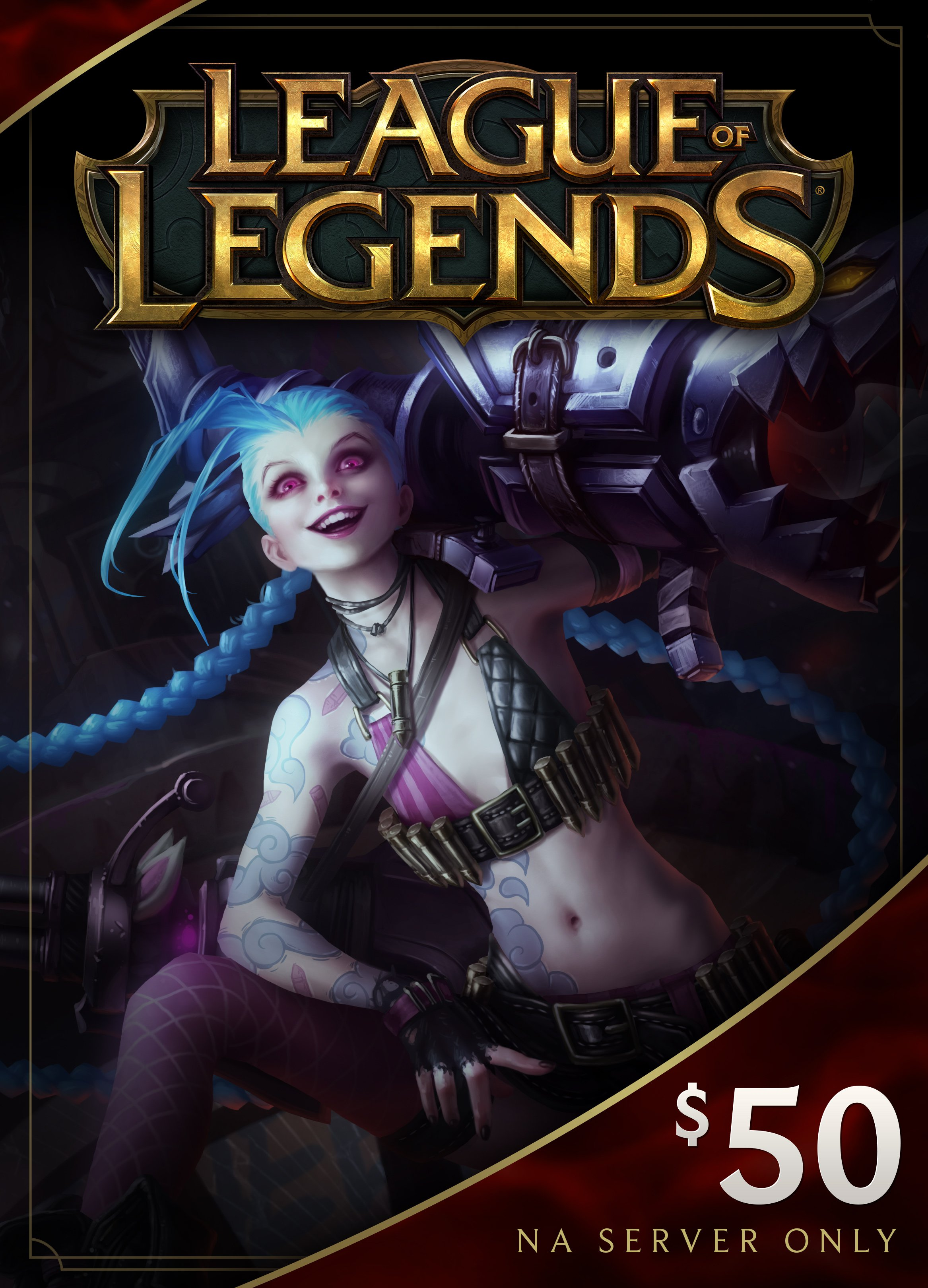 League of Legends $50 Gift Card  7200 Riot Points - NA Server Only [Online Game Code]