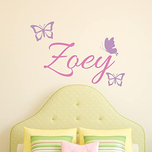 Amazon.com: Custom Name Butterfly Wall Decal - Girls Personalized ...
