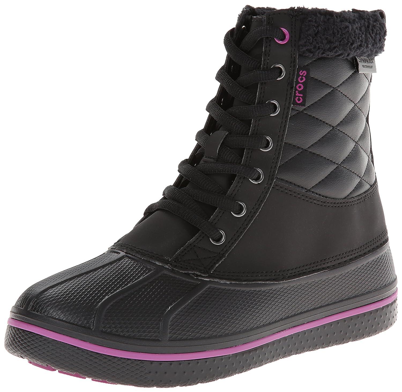 Crocs Allcast Waterproof Duck Boot W - Botas de nieve para mujer38/39 EU|Nero (Black/Viola)