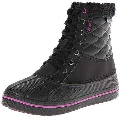 ed471d7091e99 Crocs Women S 16035 Allcast Waterproof Db Snow Boot Black Viola 5. Crocs  Women S Allcast Waterproof Duck Boot Snow Boots -  Source