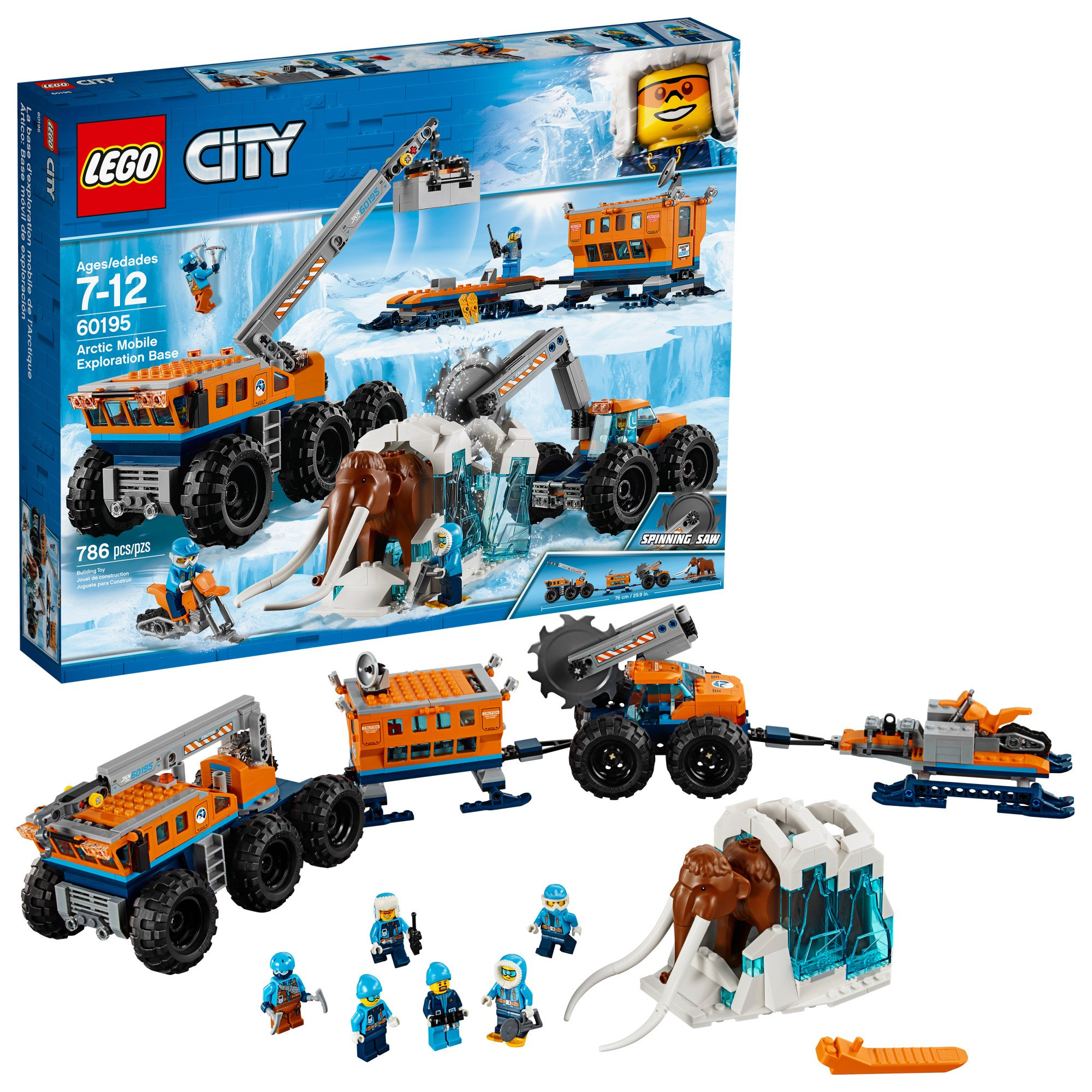 LEGO City Arctic Mobile Exploration Base 60195 Building Kit, Snowmobile Toy and Rescue Game (786 Pieces) by LEGO