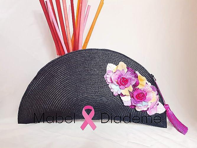 Mabel Diademe bolso cartera de mano mujer accesorio para bodas comunion bautizo noche amigas ceremonia negro