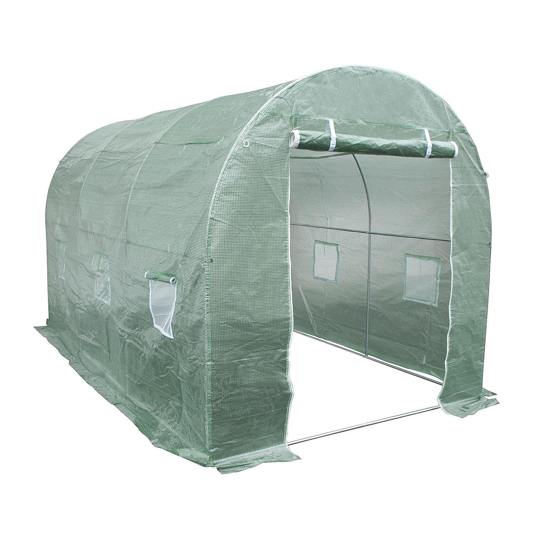 ALEKO® ghot12 X 7 X 7 grandes poly-tunnel Walk en resistente al agua planta de jardín invernadero cobertizo 12 X 7 X 7 pies: Amazon.es: Jardín