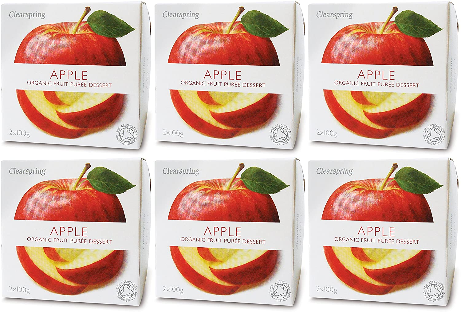 (6 PACK) - Clearspring - Fruit Puree Apple | 2 X 100g | 6 PACK BUNDLE Groceries