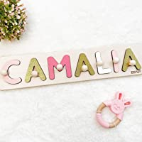 Personalized - Name Puzzle - with Pegs - for Child - also Baby Gift and Nursery Decor