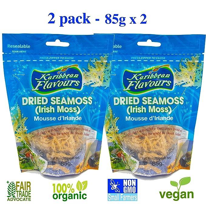 Karibbean Flavours Musgo irlandés súper (2 Pack) Gmo Vegan Wildcrafted no Raw (2 x 85g): Amazon.es: Hogar