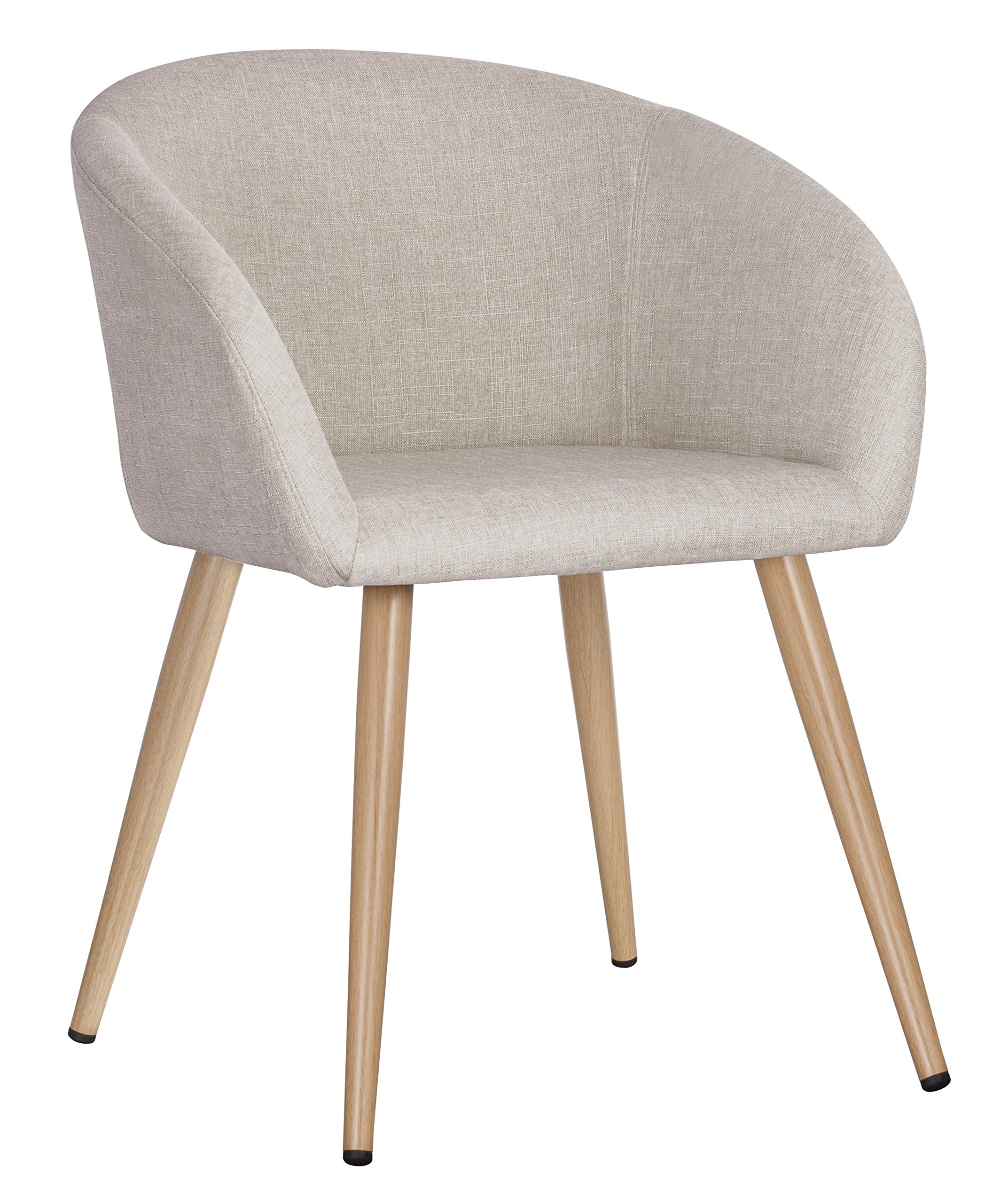 Duhome Fabric Home Office Leisure Accent Chair Living Room Reception Side Chair with Armrest (Oatmeal)