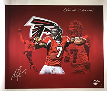 Image Unavailable. Image not available for. Color  Mike Vick autographed  signed inscribed 20x24 canvas RARE NFL Atlanta Falcons JSA f7e3c087f