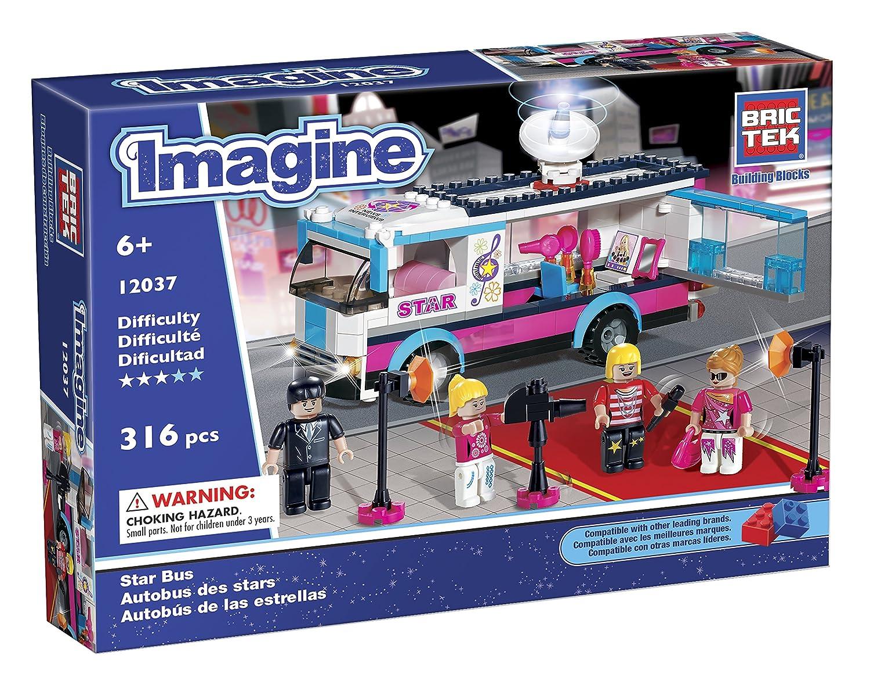 BRICTEK Childrens Imagine Star Bus Interlocking Building Brick Toy 12037
