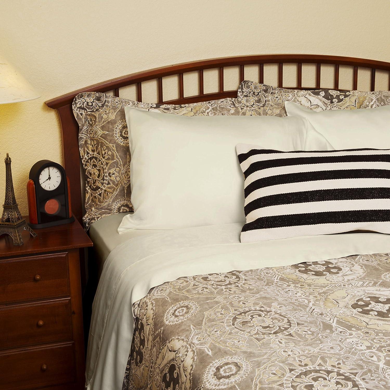 Hypoallergenic /& Lightweight DTY Bedding Luxuriously Soft /& Comfortable 4-Piece Tencel Lyocell Sheet Set Queen Made from 100/% Eucalyptus Fiber Porcelain Green Big Sale!!