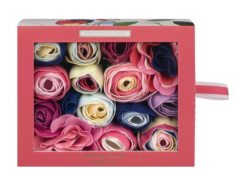 Heathcote & Ivory Sweet Pea and Honeysuckle Bathing Flowers in Sliding Box, 85 g FG5609