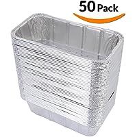 "DOBI Loaf Pans - Disposable Aluminum Foil 2Lb Bread Tins, Standard Size - 8.5"" X 4.5"" X 2.5"", (Pack of 50)"