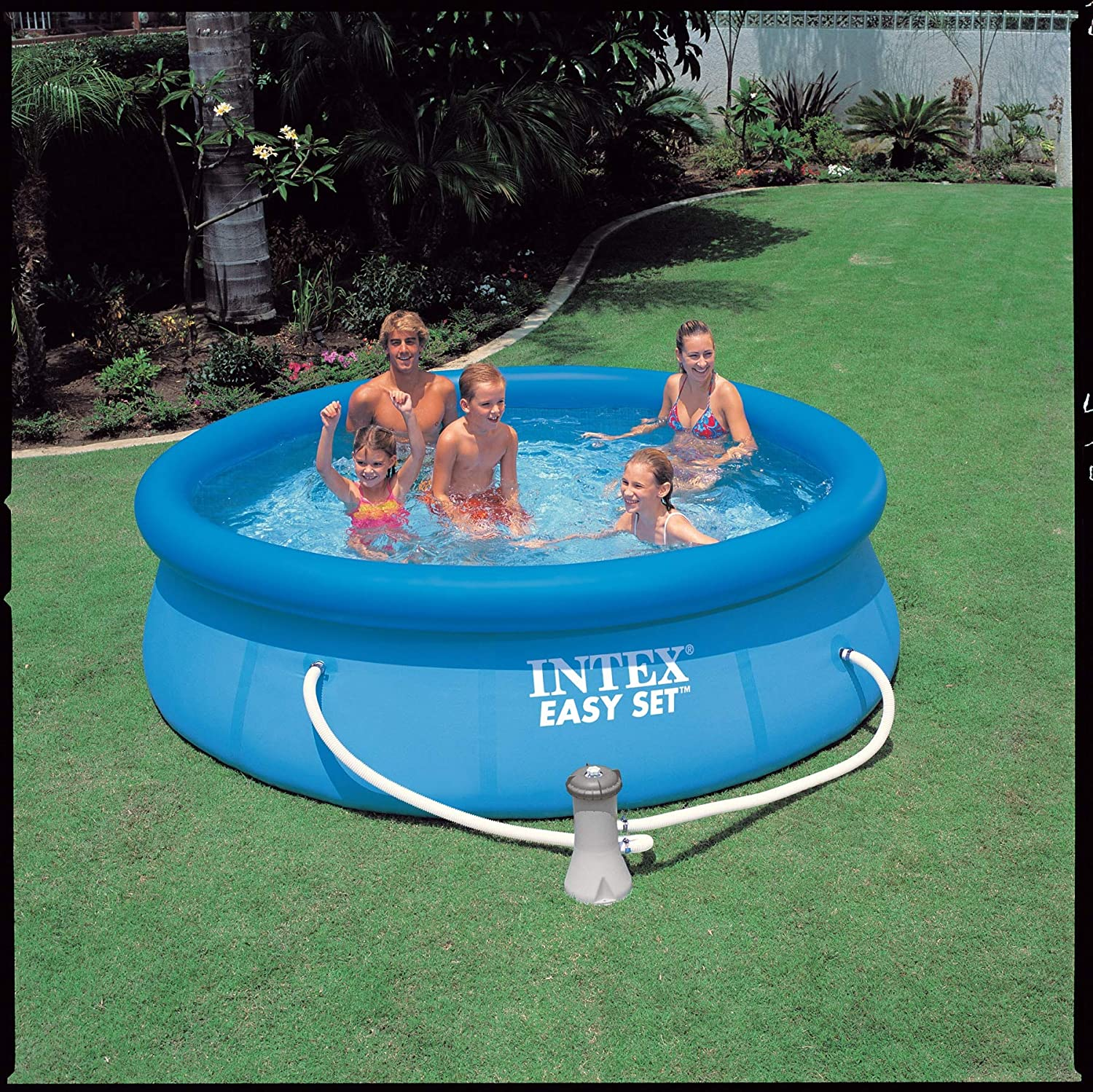 Intex Easy Set Pool - Aufstellpool - Ø 305 x 76 cm - Mit Filteranlage