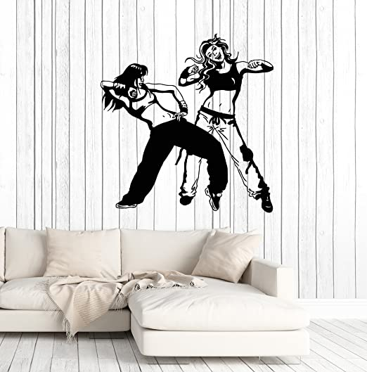 LARGE STREET DANCING CHILDRENS BEDROOM WALL ART BIG MURAL STICKER TRANSFER DECAL