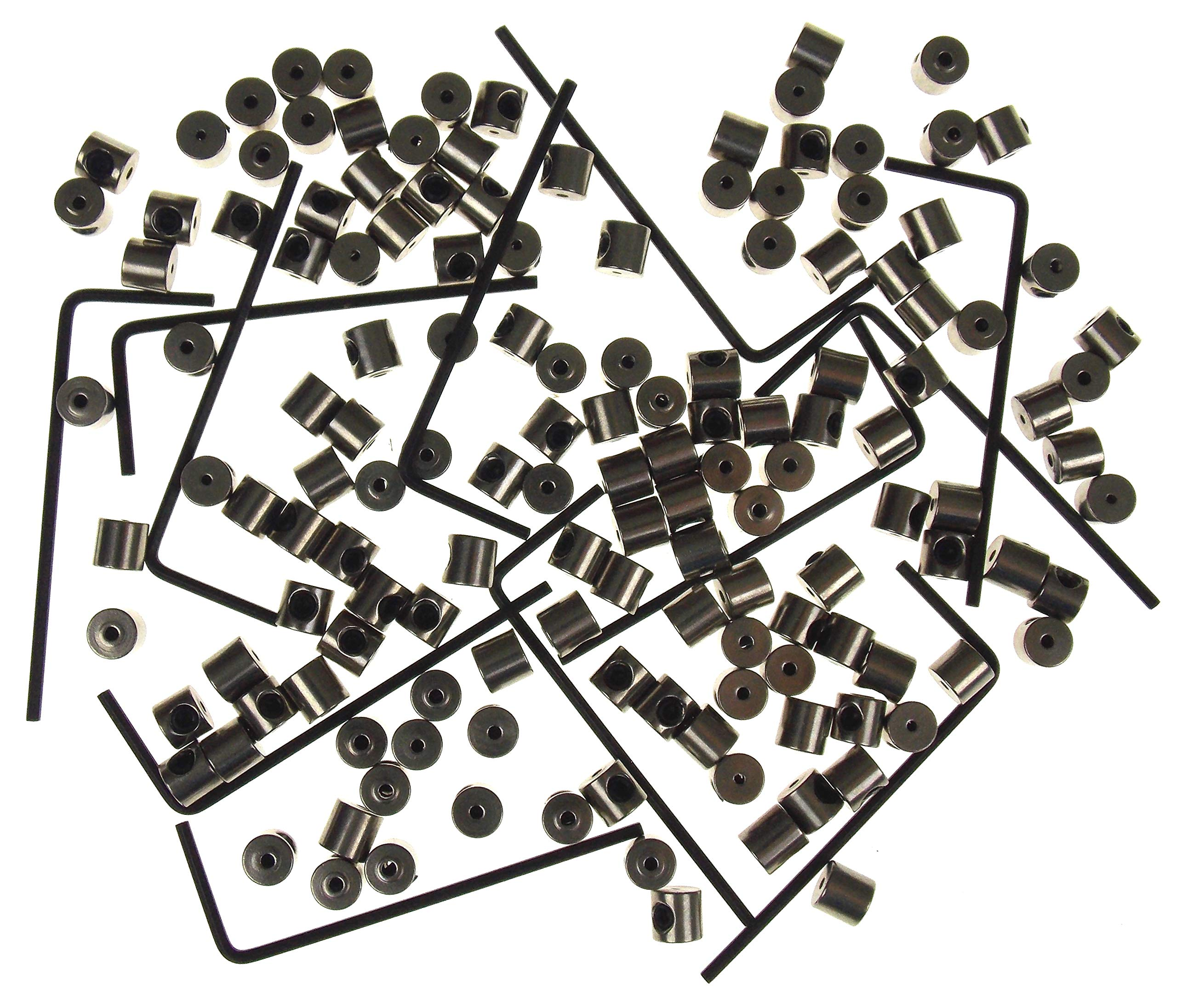 Locking Pin Backs (144) Bulk Metal Pin Keepers Bundled with Storage Case Hickoryville (White) by Hickoryville