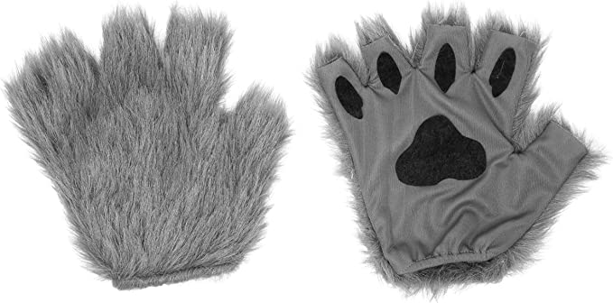 Zoo Animal Ears /& Tail Fancy Dress Koala Bear Animal Set Grey Luxury Faux Fur