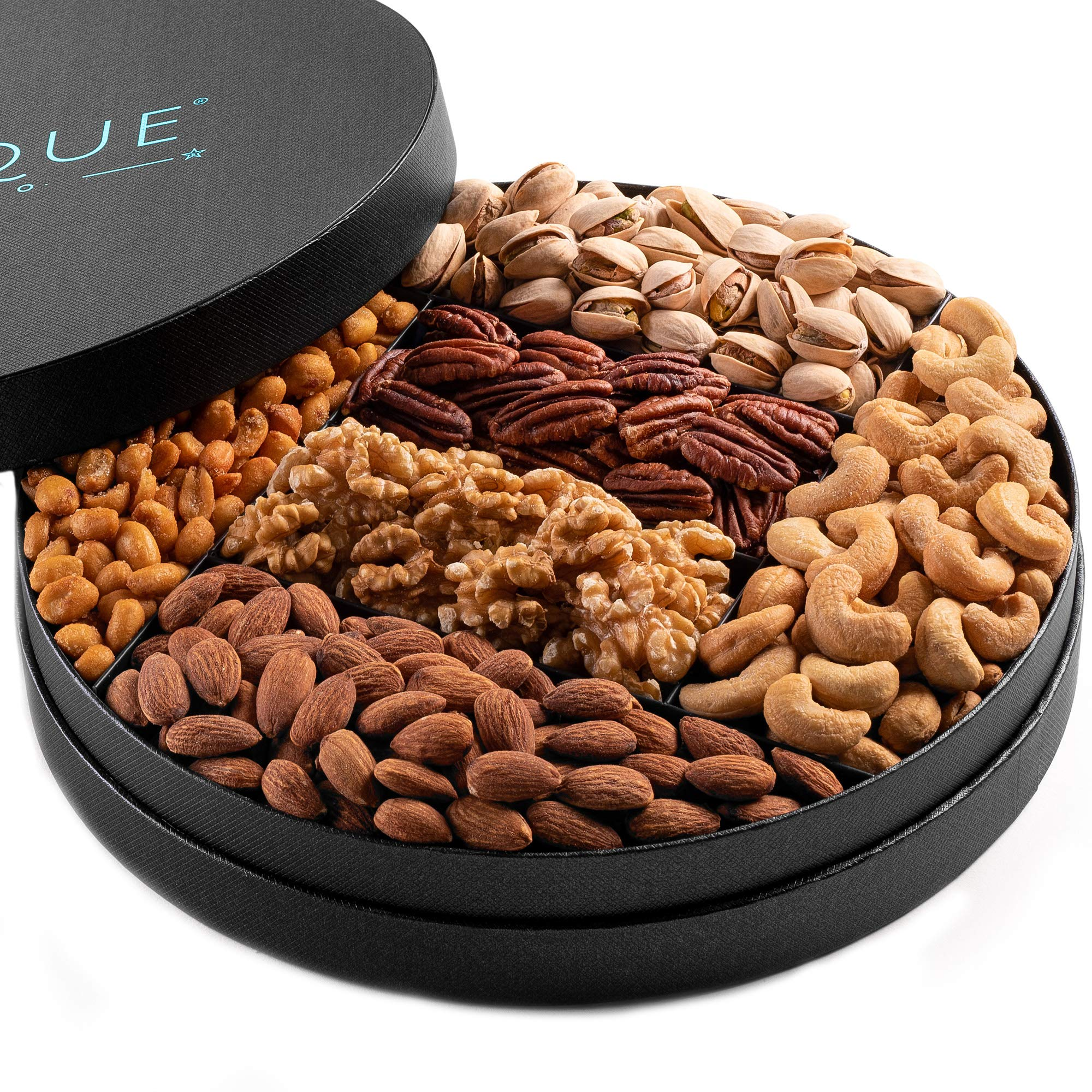 Gourmet Nut Gift Tray - 10'', Freshly Roasted Assorted Nuts for Mothers Day. Fathers Day, Holiday and Corporate Gifting, Hostess Gift