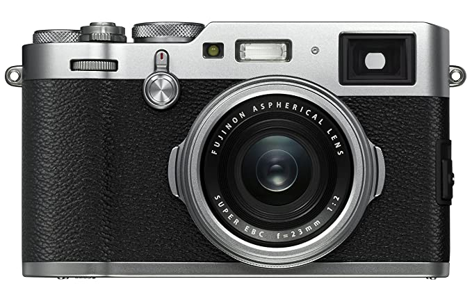 Fujifilm X100F 24.3 MP APS-C Digital Camera - Silver Digital Cameras at amazon