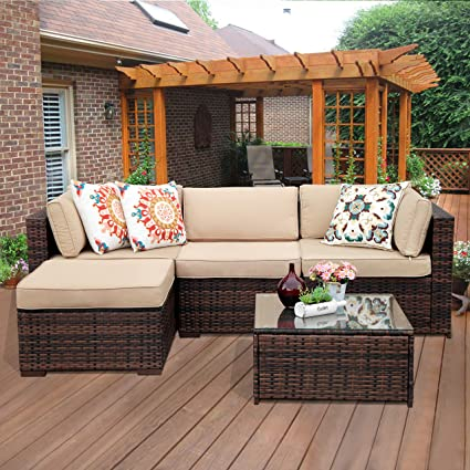 Amazon Com Super Patio Outdoor Patio Furniture Set 5 Piece All
