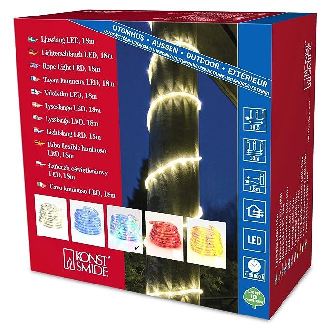 LED Eisregen Lichterkette Warm Weiss 108 LED 230V Schwarz 5,4 x 0,4m