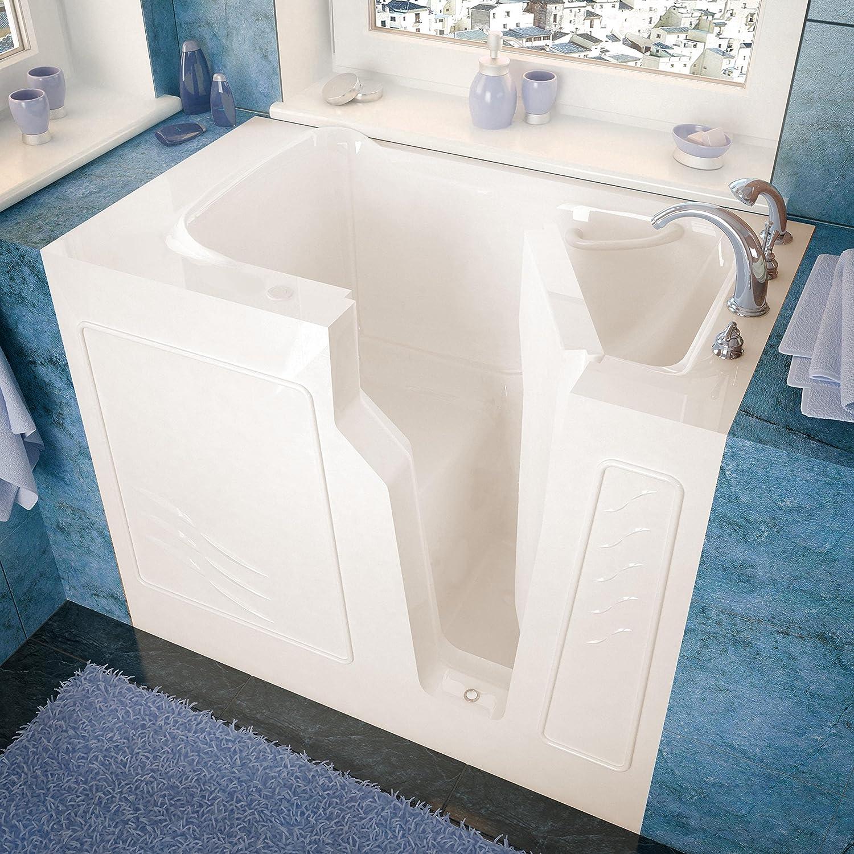 Spa World Venzi vz2646rbs長方形Soaking walk-in浴槽、26 x 46、右Drain、ビスケット B00J7KWNZE