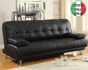 Divano Reclinabile 4 Posti : Divano letto ecopelle 3 posti reclinabile cuscini: amazon.it: casa e