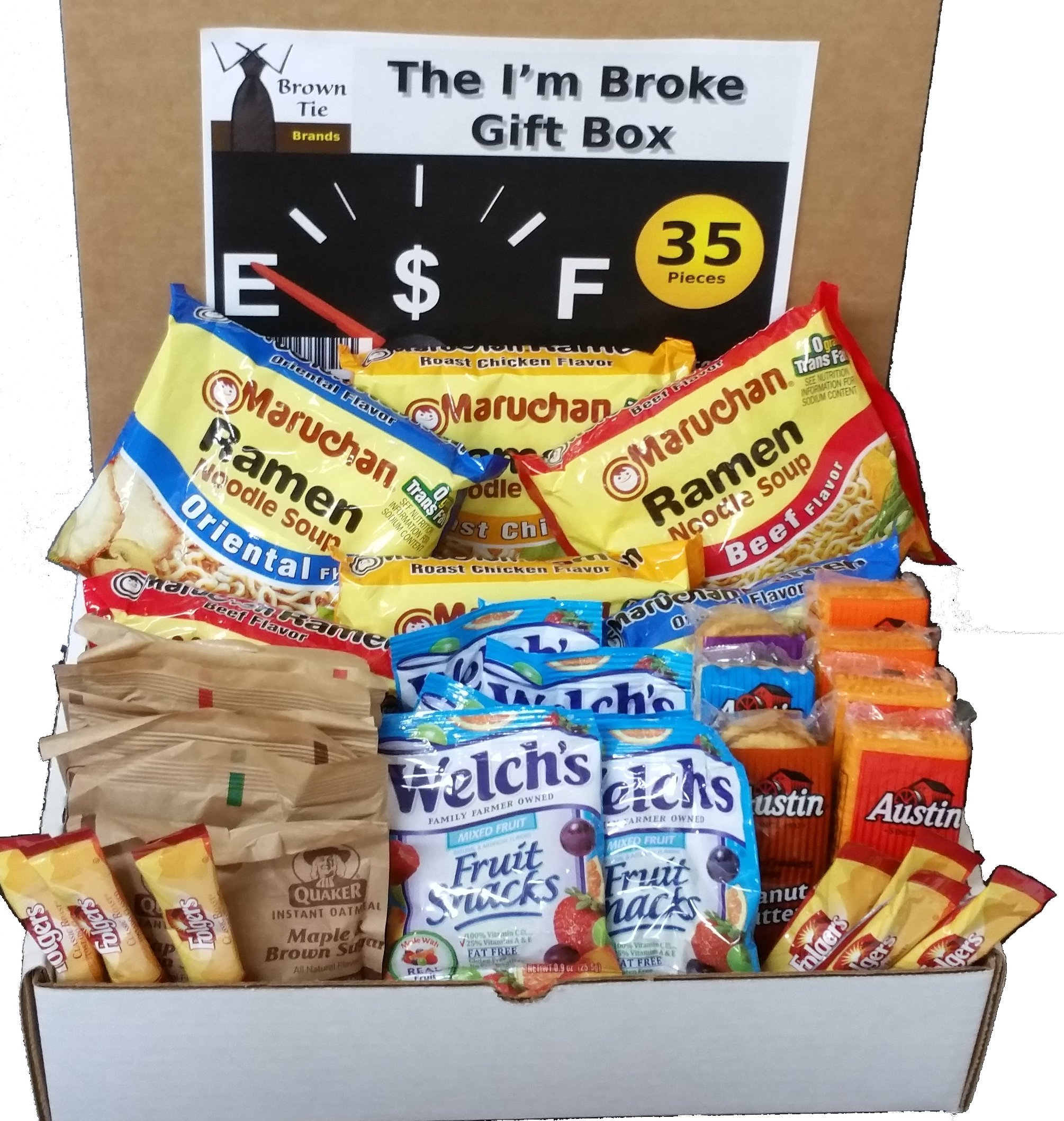The I'm Broke -College, Student, Military, Office or Gag Gift Box (35 Count) by Brown Tie Brands
