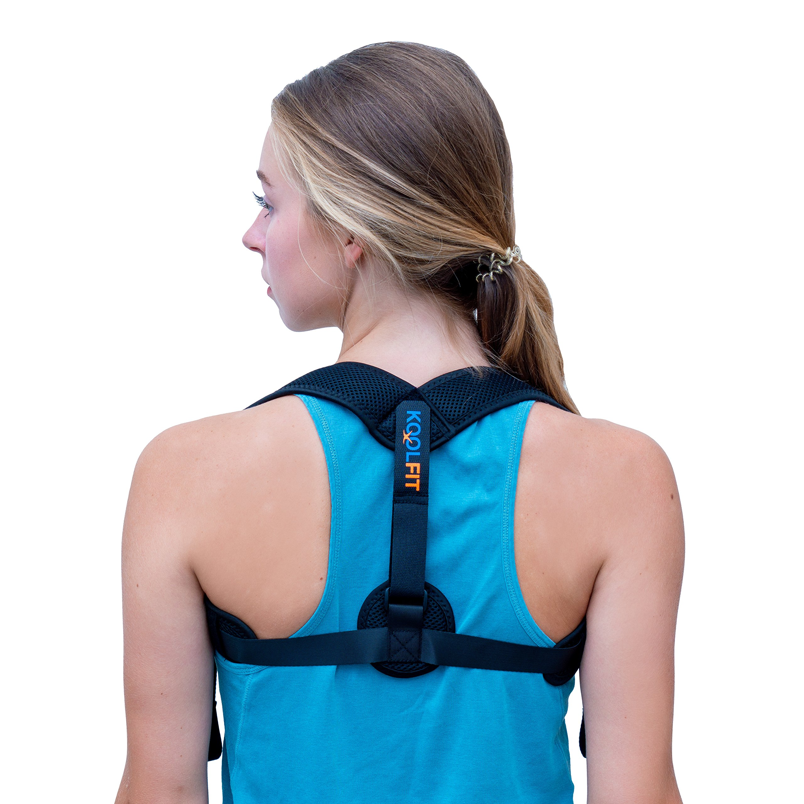 KOOLFIT Back Posture Corrector – Adjustable Back Brace Corrector for Men and Women – Shoulder Pain Relief – Comfortable and User-Friendly – Supports Fast Injury Recovery – Prevents Hunching, Slouching
