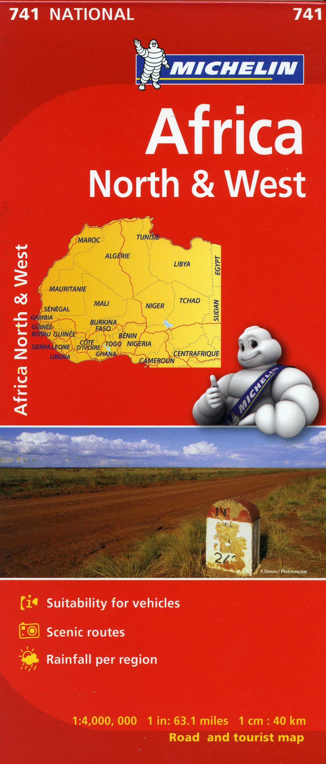 Michelin Africa North & West Map 741 (Maps/Country (Michelin