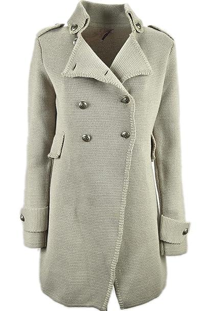 Cappotti in maglia donna a Doppio petto
