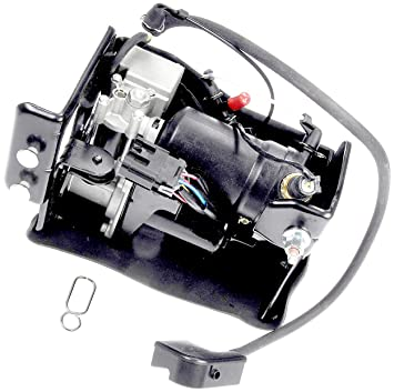 APDTY 050112 Air Suspension Compressor Assembly w/Dryer & Steel Mount  Housing For 2007-2013 Escalade, Avalanche, Suburban, Yukon, Tahoe (Replaces