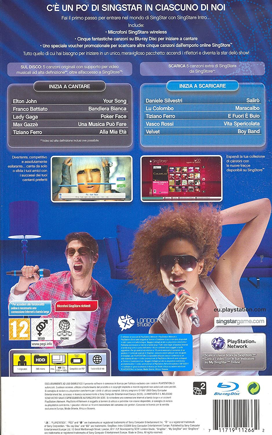 canzoni singstar ps3