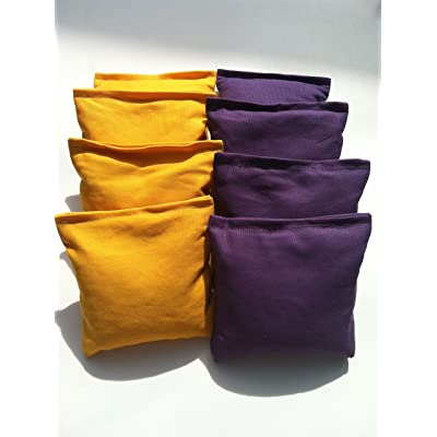 Standard Bags Color: Purple and Yellow Cornhole Bags: Toys & Games